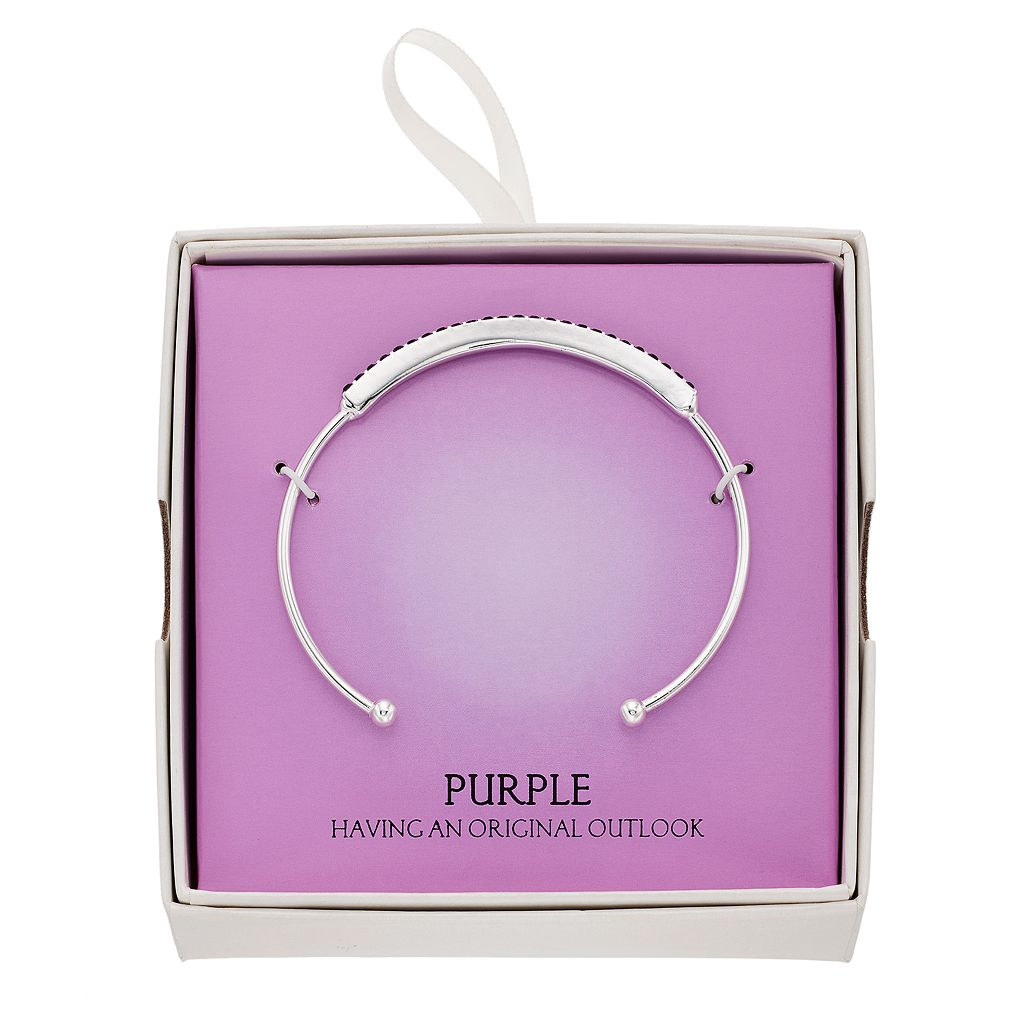 Simulated Purple Amethyst Cuff Bracelet
