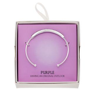 Simulated Purple Amethyst Cuff Bracelet