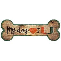 Miami Hurricanes Dog Bone Wall Sign