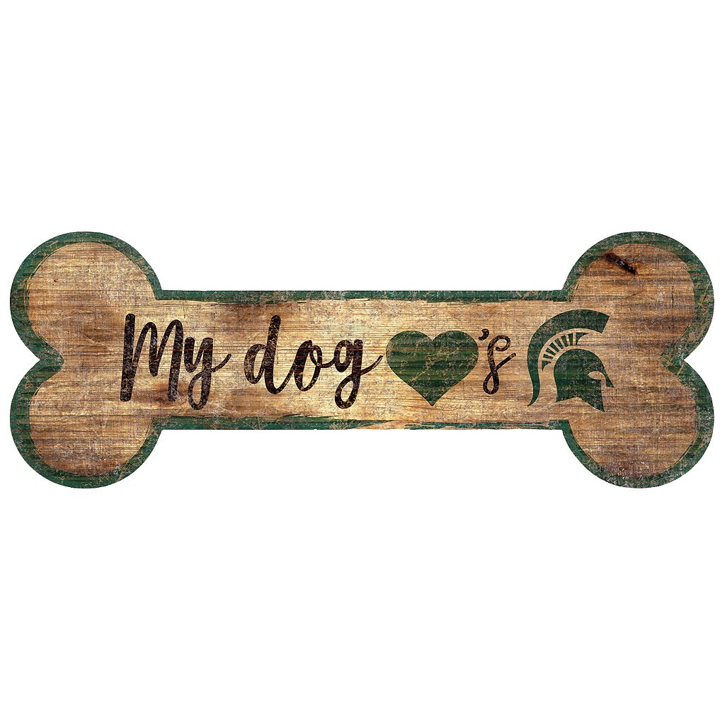 Michigan State Spartans Dog Bone Wall Sign