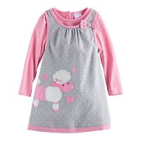Toddler Girl Nannette Poodle Jumper and Long-Sleeve Tee Set
