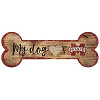 Mississippi State Bulldogs Dog Bone Wall Sign