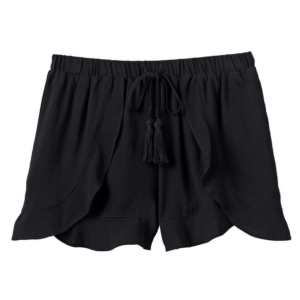 Girls 7-16 Joey B Flowy Ruffle-Front Shorts