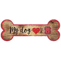 North Carolina State Wolfpack Dog Bone Wall Sign