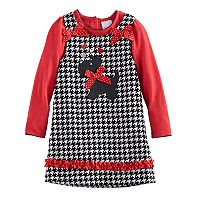 Toddler Girl Nannette Scottie Dog Jumper