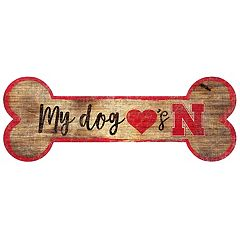 Nebraska Cornhuskers Dog Bone Wall Sign