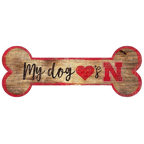 Nebraska Cornhuskers Dog Bone Wall Sign