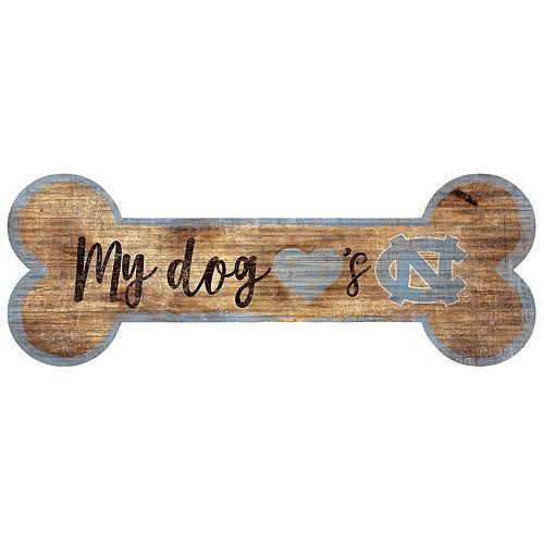 North Carolina Tar Heels Dog Bone Wall Sign