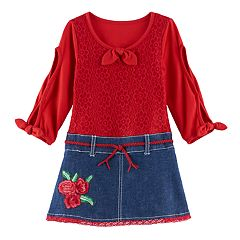 Toddler Girl Nannette Lace Mock-Layer Dress