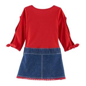 Toddler Girl Nannette Lace Mock-Layer Dress