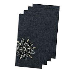 St. Nicholas Square® Snowflake Embroidered Napkin 4-pk.