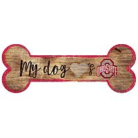 Ohio State Buckeyes Dog Bone Wall Sign