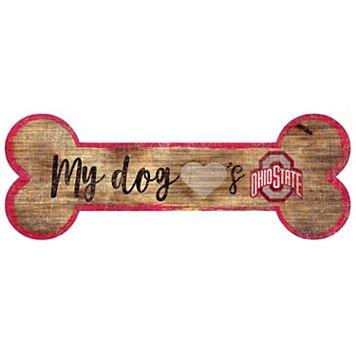 Ohio State Buckeyes Dog Bone Wall Sign