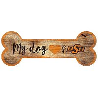 Oklahoma State Cowboys Dog Bone Wall Sign