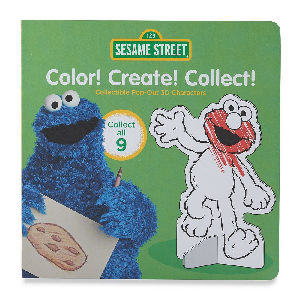 Coloring books for adults kohls - Kohl S Cares Sesame Street Color Create Collect Pop Out 3 D Characters Book
