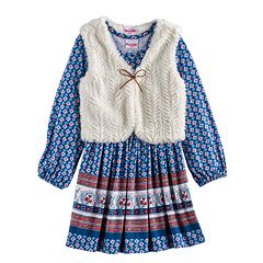 Toddler Girl Nannette Printed Dress & Vest Set