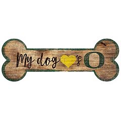 Oregon Ducks Dog Bone Wall Sign
