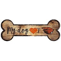 Oregon State Beavers Dog Bone Wall Sign