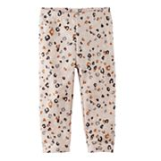 Baby Girl Jumping Beans® Print Fleece Leggings