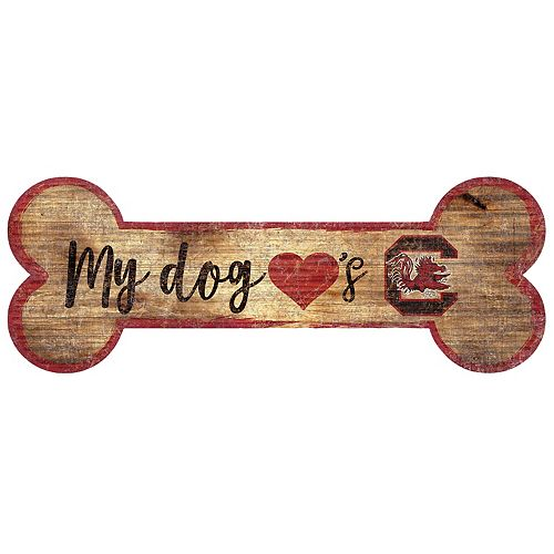 South Carolina Gamecocks Dog Bone Wall Sign