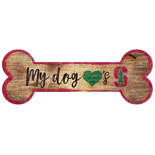 Stanford Cardinal Dog Bone Wall Sign