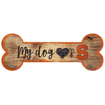 Syracuse Orange Dog Bone Wall Sign