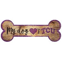TCU Horned Frogs Dog Bone Wall Sign