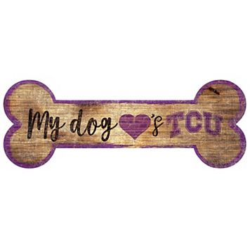 TCU Horned Frogs Dog Bone Wall Sign