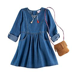 Girls 4-6x Nannette Denim Dress