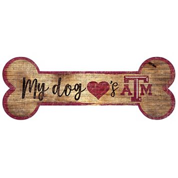 Texas A&M Aggies Dog Bone Wall Sign