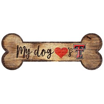 Texas Tech Red Raiders Dog Bone Wall Sign
