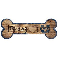 Utah State Aggies Dog Bone Wall Sign