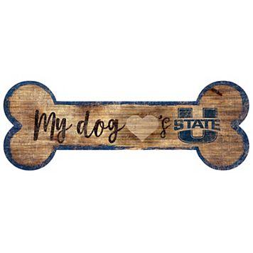 Utah State Aggies Dog Bone Wall Sign