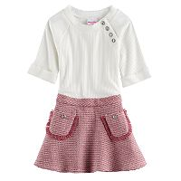 Girls 4-6x Nannette Ribbed Dress