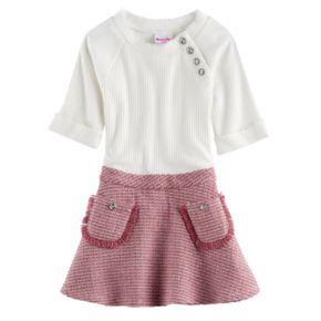 Girls 4-6x Nannette Ribbed Dress