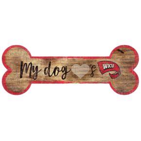 Western Kentucky Hilltoppers Dog Bone Wall Sign