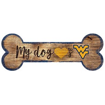 West Virginia Mountaineers Dog Bone Wall Sign