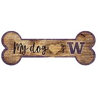 Washington Huskies Dog Bone Wall Sign