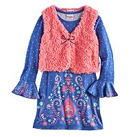 Girls 4-6x Nannette Paisley Dress & Vest Set