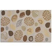 Couristan Outdoor Escape Barnegat Bay Shell Indoor Outdoor Rug