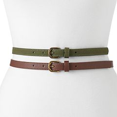 Women's SONOMA Goods for Life™ 2-for-1 Faux Suede & Smooth Belt Set