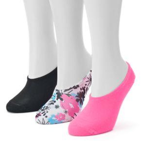 Women's Converse Made For Chucks 3-pk. Bright Floral No-Show Socks