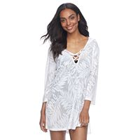 Women's Apt. 9® Jacquard Palm Tunic Cover-Up