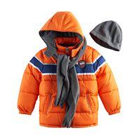 Toddler Boy I-Extreme 3-pc. Colorblock Puffer Jacket, Hat & Scarf Set