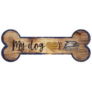 Georgia Southern Eagles Dog Bone Wall Sign