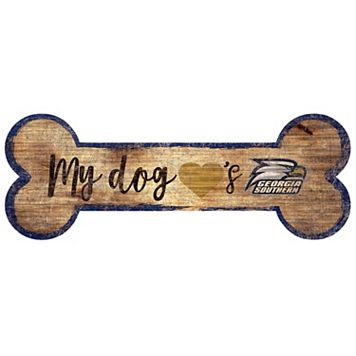 Georgia Southern Eagles Dog Bone Wall Sign