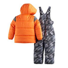 Toddler Boy I-Extreme Winter Jacket & Bib Overall Snow Pants Set