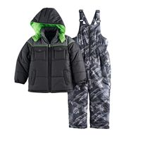 Toddler Boy I-Extreme Winter Jacket & Bib Overall Snow Pants Set