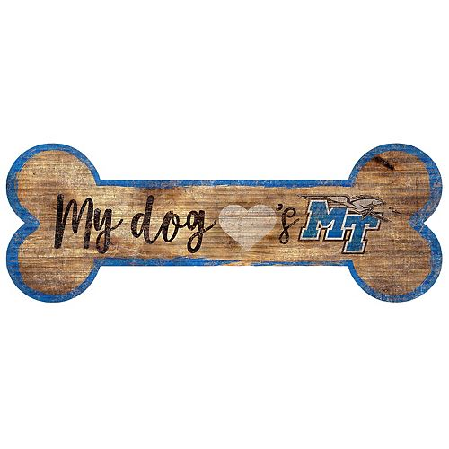 Middle Tennessee Blue Raiders Dog Bone Wall Sign