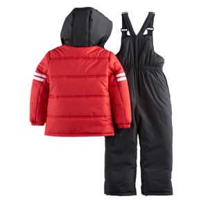 Toddler Boy I-Extreme Colorblock Jacket & Bib Overall Snow Pants Set